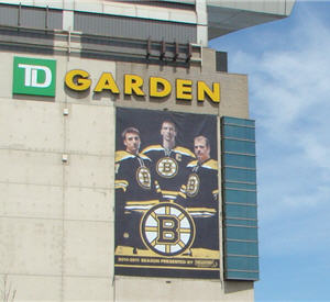 bruins banner on tdgarden