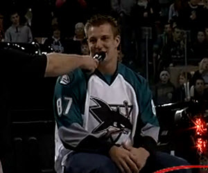 Gronkowski at Sharks Game