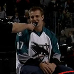 Gronkowski Spikes Puck at Worcester Sharks Game